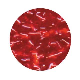 Paillette brillante rouge en flocon