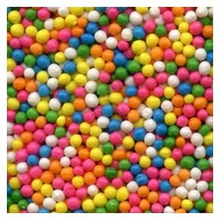 Perle chocolatée croustillante - Arc-en-ciel
