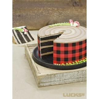 Feuille comestible Lumberjack / Buffalo plaid