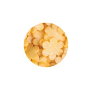 Décorette - Fleur jaune lustré