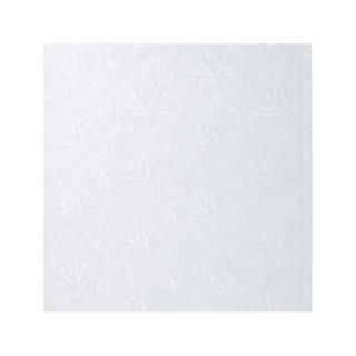 "Carton plateau carré blanc 8"" x 0.5"""