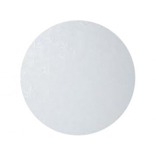 "Carton plateau rond blanc 8"" x 0.5"""