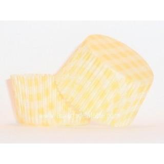 Moule à muffin Vichy jaune