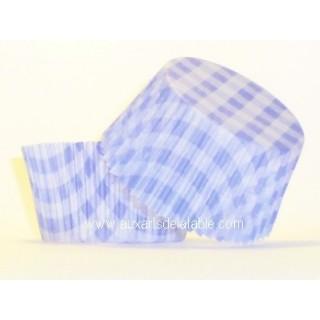 Moule à muffin Vichy bleu