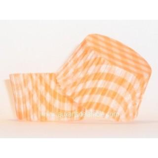 Moule à muffin Vichy orange