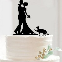 Ornement Acrylique noir - Couple avec chat