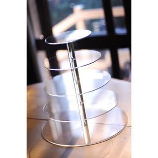 Présentoir rond en acrylique - 5 étages
