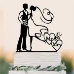 Ornement Acrylique noir - Couple Mr Mrs
