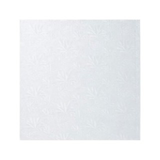 "Carton plateau carré blanc 18 x 0.5"""