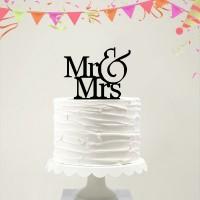 Ornement Acrylique noir - Mr & Mrs