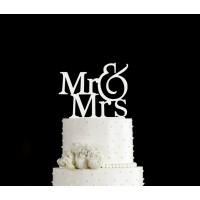 Ornement Acrylique blanc - Mr & Mrs
