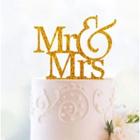 Ornement Acrylique or - Mr & Mrs