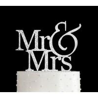 Ornement Acrylique argent - Mr & Mrs
