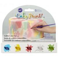 Peinture comestible 5 couleurs