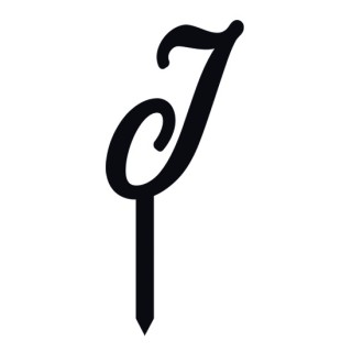 """Monogramme Acrylique noir 1.75"""" - Lettre J"""