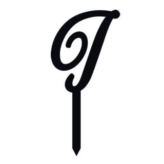 """Monogramme Acrylique noir 1.75"""" - Lettre I"""