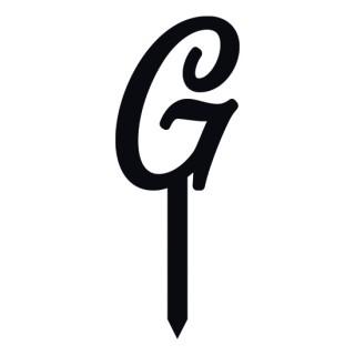 """Monogramme Acrylique noir 1.75"""" - Lettre G"""