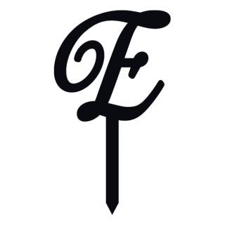 """Monogramme Acrylique noir 1.75"""" - Lettre E"""