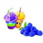 Sirop pour barbotine ( slush ) - Framboise bleue