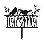 Ornement Acrylique noir - Toi & Moi