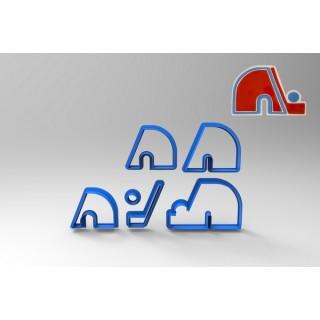 Découpoir Logo Nordiques de Québec Deluxe 4''