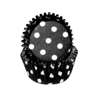 Mini moule en papier Noir à pois