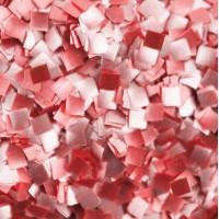 Mini carré brillant rouge