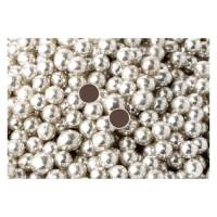 Perle chocolatée 10 mm - Argent métallique