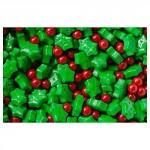 Feuille de houx et baie rouge en sucre