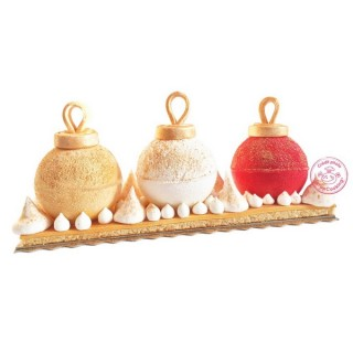 Moule bûche Boules de Noël