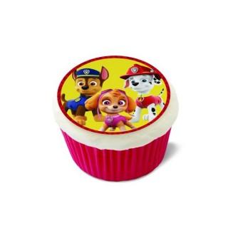 Feuille de sucre pour cupcake Pat Patrouille