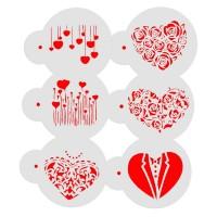 Ensemble Pochoirs à biscuit - Les coeurs