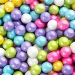 Perle chocolatée 10 mm Mélange printanier