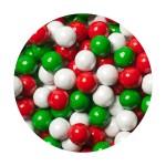 Perle chocolatée 10 mm Mélange de Noël