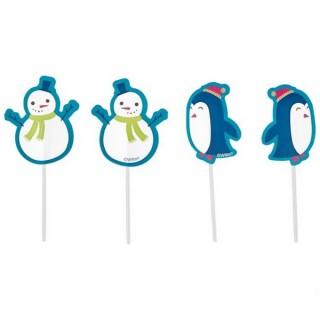 Pick Pingouin et bonhomme de neige