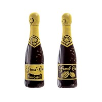 Moule imprimé - Petite bouteille de champagne