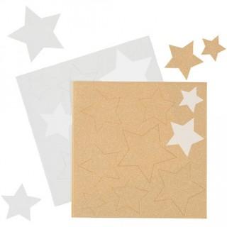 Feuille de sucre - Étoile blanche et or