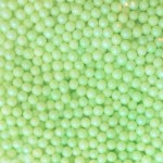 Perle verte pâle en sucre 3-4 mm