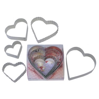 Emporte-pièces Les coeurs unis et dentelés