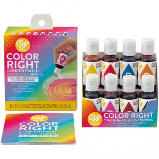 Colorant à glaçage 8 couleurs Color Right