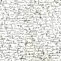 Feuille imprimée Lettres noires