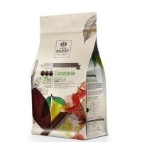 Chocolat noir Barry Tanzanie 75% cacao - 1 kg