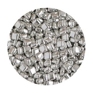 Dragée argent métallisé - Carré