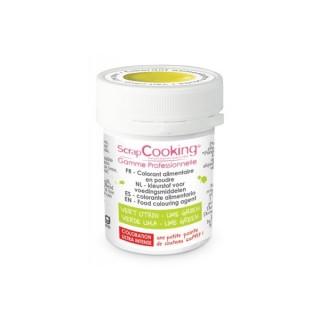 Colorant en poudre hydrosoluble - Vert citron