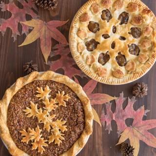 Découpoir réversible pour tarte Pomme / Feuille
