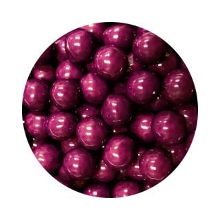 Perle chocolatée 10 mm - Violet