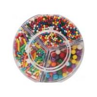 Sucre et perles à parsemer - Assortiment Multicolore