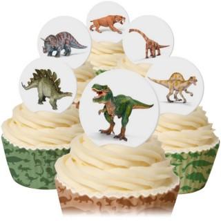 Dinosaures en papier de riz comestible
