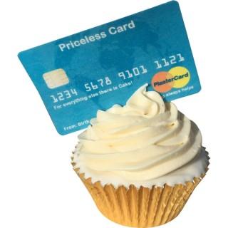 ***RED*** Carte de crédit Plaster Card en papier de riz comestible