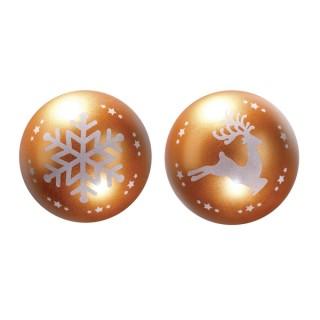 Moule Boule de Noël Romance - Renne et Flocon